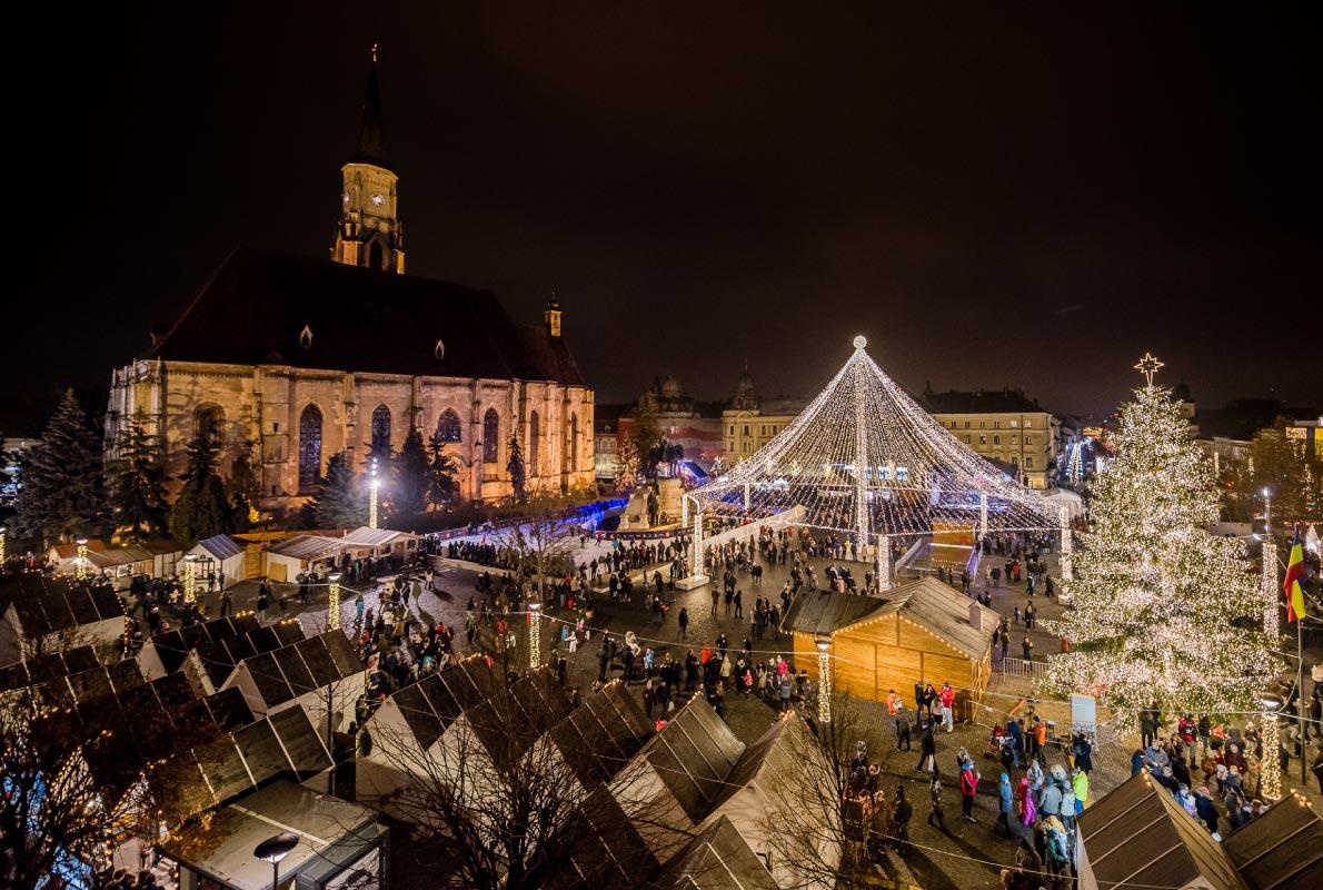 Kluž-vianočné-market-rumunsko