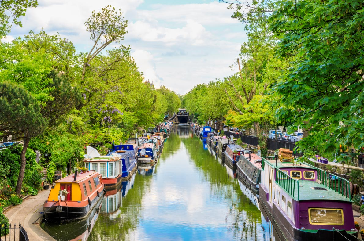 Best hidden gems in England -  London Little Venice Copyright  I Wei Huang - European Best Destinations