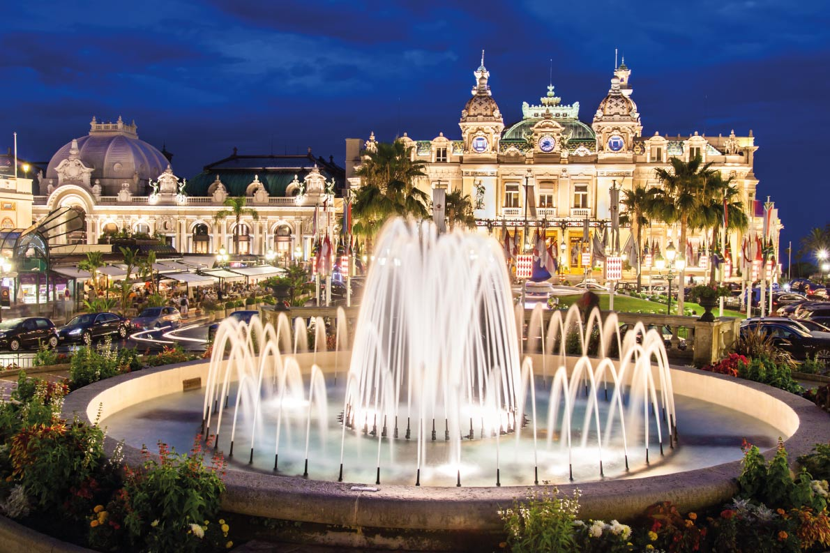Best fountains in Europe   -Monte Carlo Casino Fountain Copyright Matej Kastelic - European Best Destinations