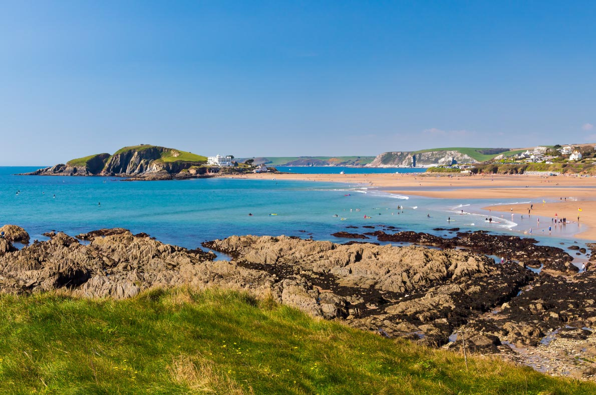 best beaches in England - Views towards Burgh Island as seen from Bantham Copyright Brian Woolcock  - European Best Destinations