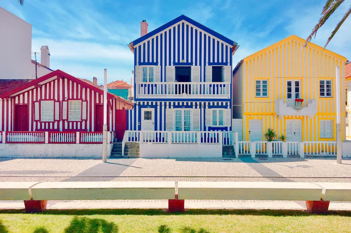 Best hidden gems in Portugal - Costa Nova, Aveiro, Portugal, Copyright  Grace_ZZO   - European Best Destinations