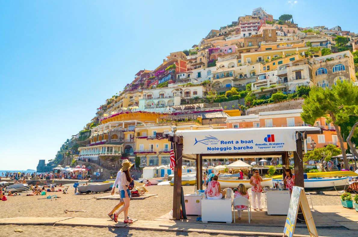 Best beaches in Europe Positano beach copyright  Leigh Trail