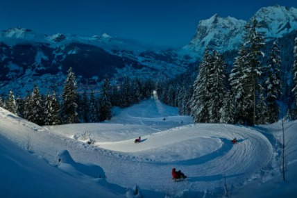 Eiger run in Jungfrau