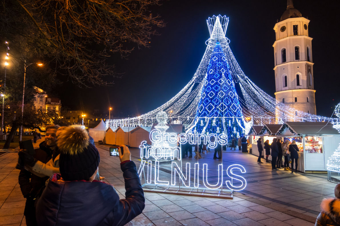 Vilnius Christmas Lights - Best Christmas Lights in Europe - Copyright  astudio  - European Best Destinations
