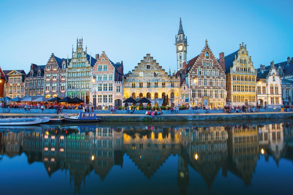 Ghent - Best Destinations for fall Autumn in Europe - Copyright Nattee Chalermtiragool - European Best Destinations