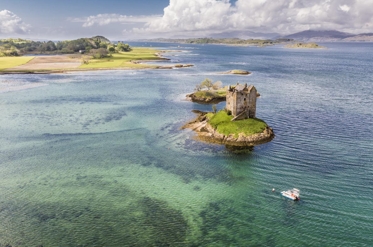 Best places to visit in Scotland - Stalker Castler copyright  Lukassek - European Best Destinations