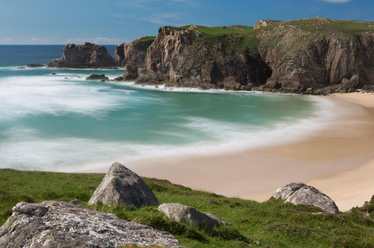 Best beaches in Scotland - Mangersta or Mangurstadh beach and sea stacks on the Isle of Lewis and Harris Copyright Anneka - European Best Destinations