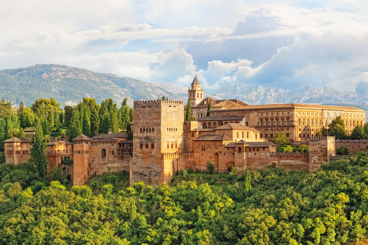 Best fortified destinations in Europe - European Best Destinations - ancient arabic fortress of Alhambra, Granada, Spain Copyright Shchipkova Elena