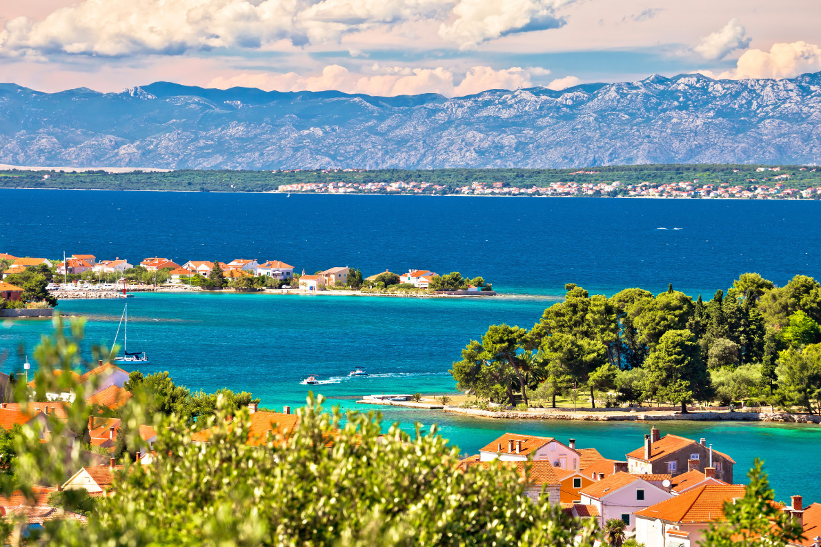 Zadar islands archipelago and Velebit mountain view, Preko, Dalmatia, Croatia - Copyright xbrchx
