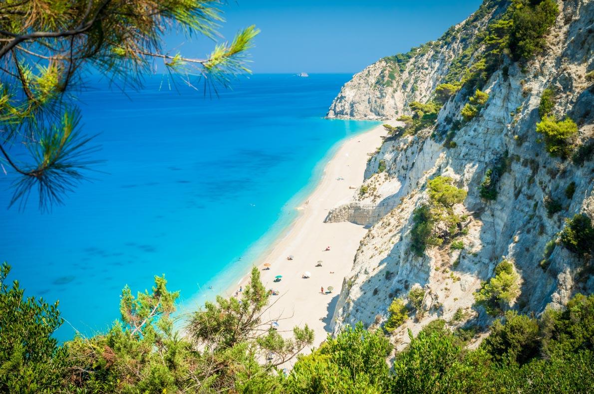 Safest and longuest beaches in Europe - Egremni Beach - Lefkada - Greece