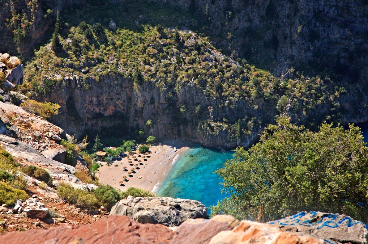 Best beaches in Turkey - Butterfly Valley beach copyright Heracles Kritikos - European Best Destinations