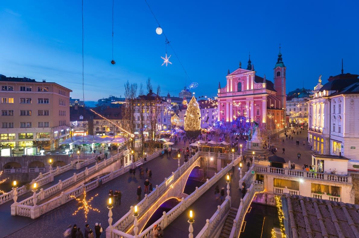 Ljubljana Christmas Lights - Best Christmas illuminations in Europe - Copyright Matej Kastelic - European Best Destinations