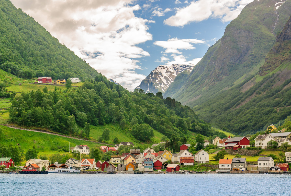 Best destinations to visit by train - Norway Flam Railway - Village of Sognefjord, Copyright Andrey Shcherbukhin - European Best Destinations