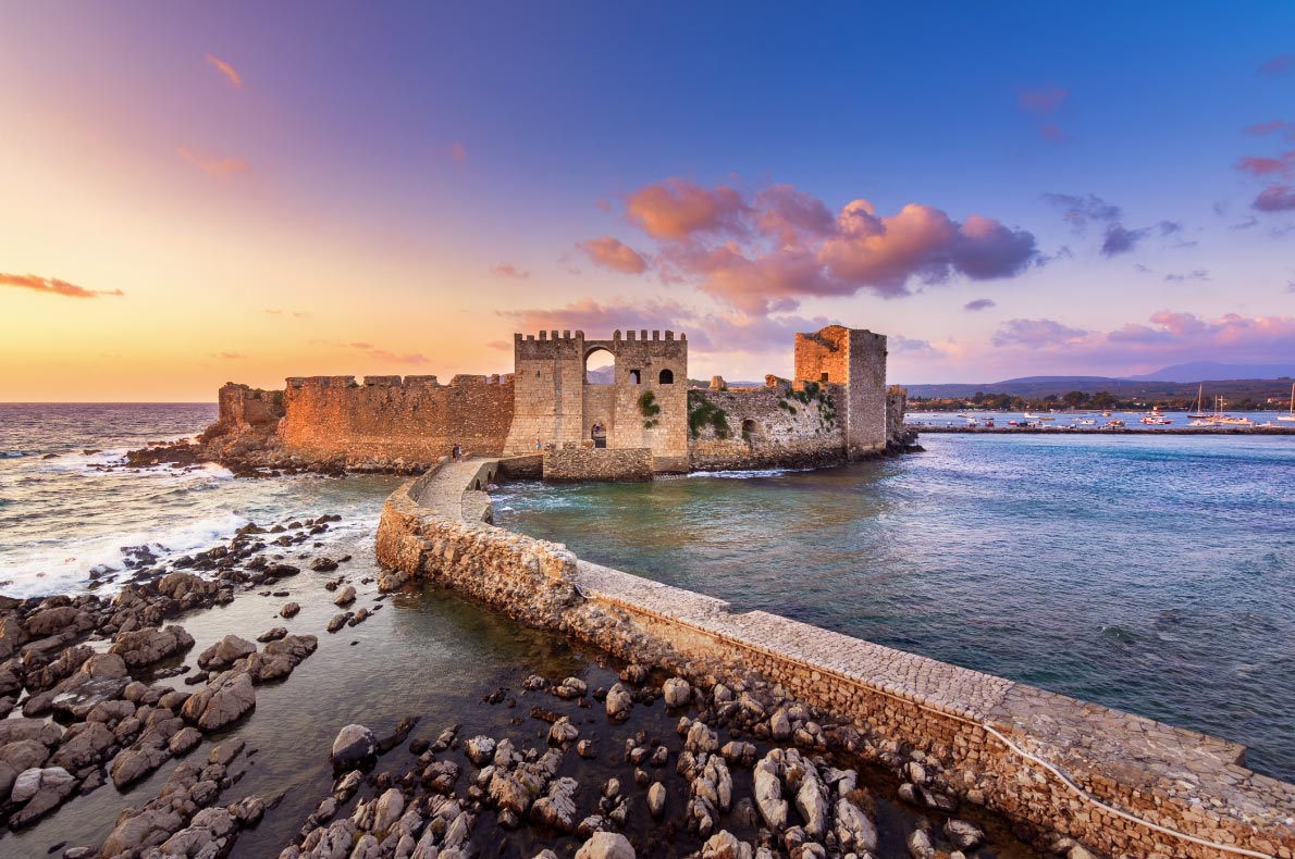 Best castles in Greece - Methoni Fortress copyright Georgios Tsichlis  - European Best Destinations