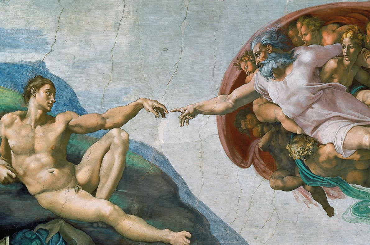 Unmissable paintings in Europe - The Creation of Adam by Michelangelo
