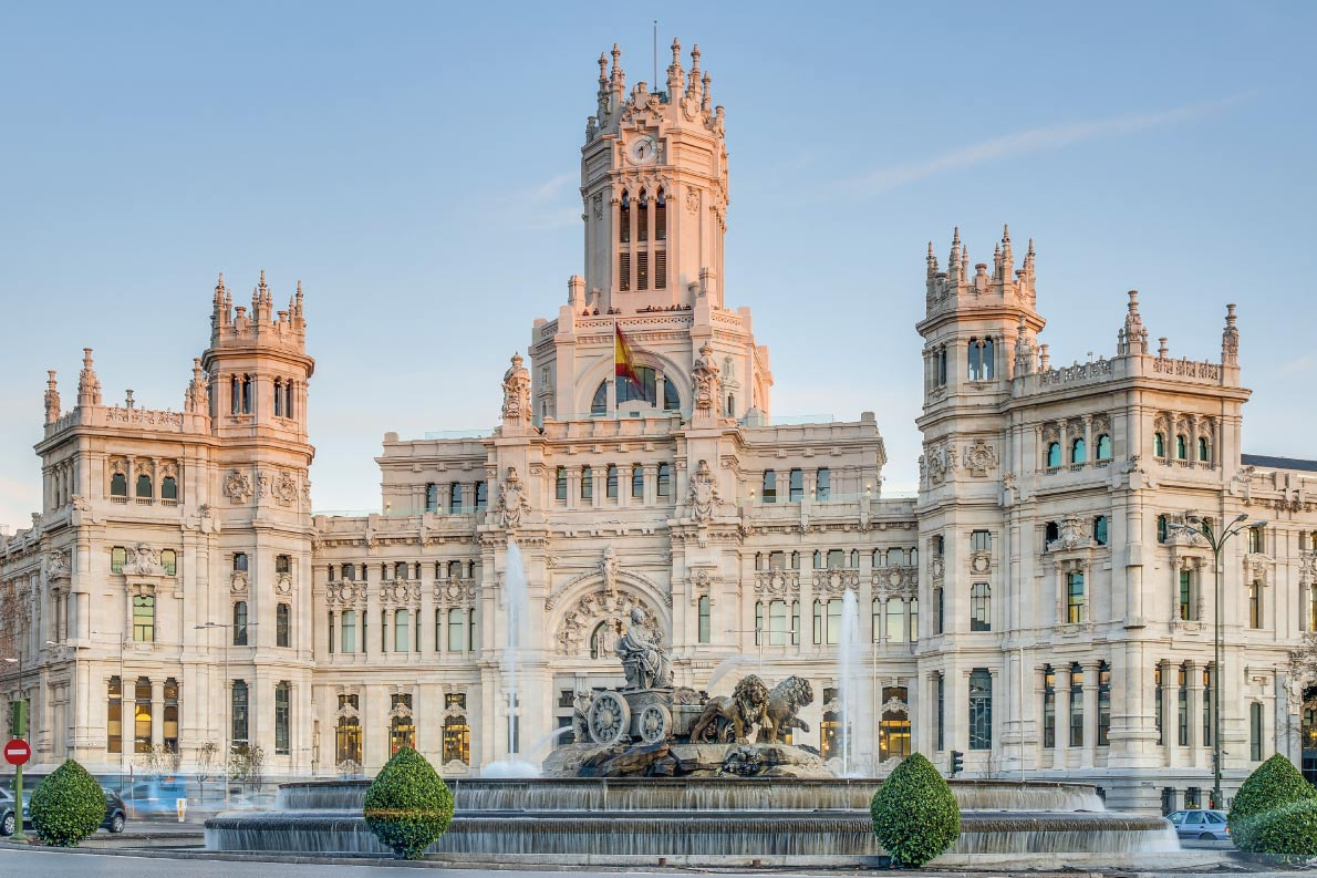 Best fountains in Europe - Cibeles Fountain located downtown Madrid, Spain - European Best Destinations