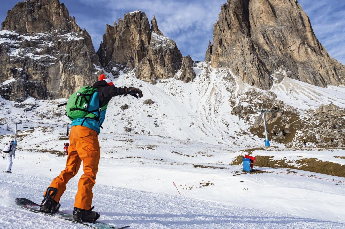 Best snowboard destinations in Europe - Val Gardena Dolomites - Copyright  COLOMBO NICOLA   - European Best Destinations