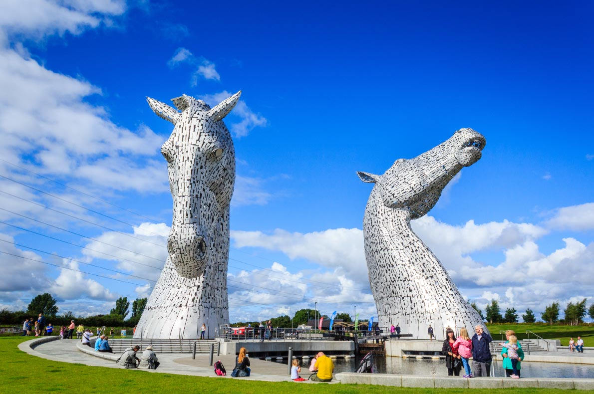 Best hidden gems in Scotland - The Kelpies in Falkirk copyright Natakorn Sapermsap shutterstock  - European Best Destinations