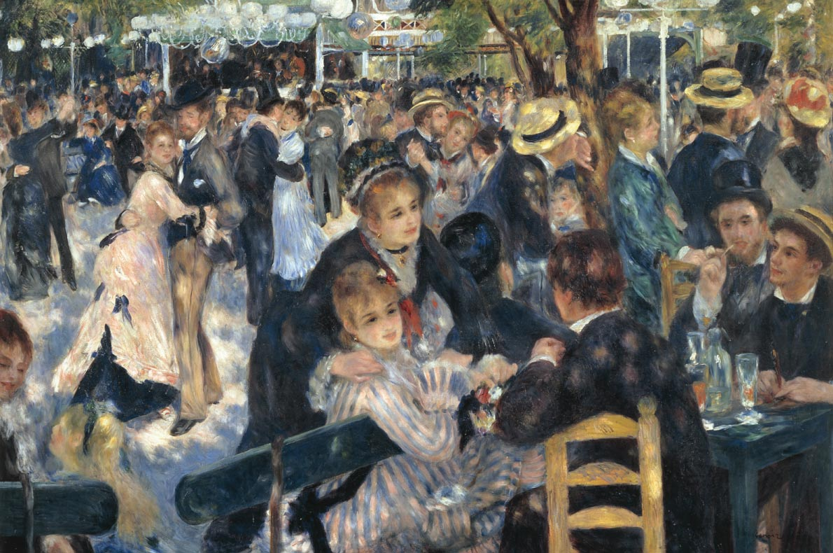 Unmissable paintings in Europe - Bal du Moulin de la Galette by Auguste Renoire