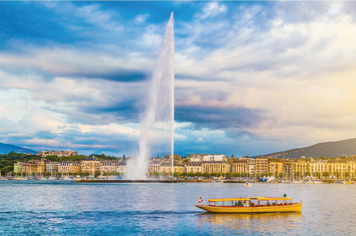 Safest destinations in Europe - light at sunset, Canton of Geneva, Switzerland - canadastock - European Best Destinations