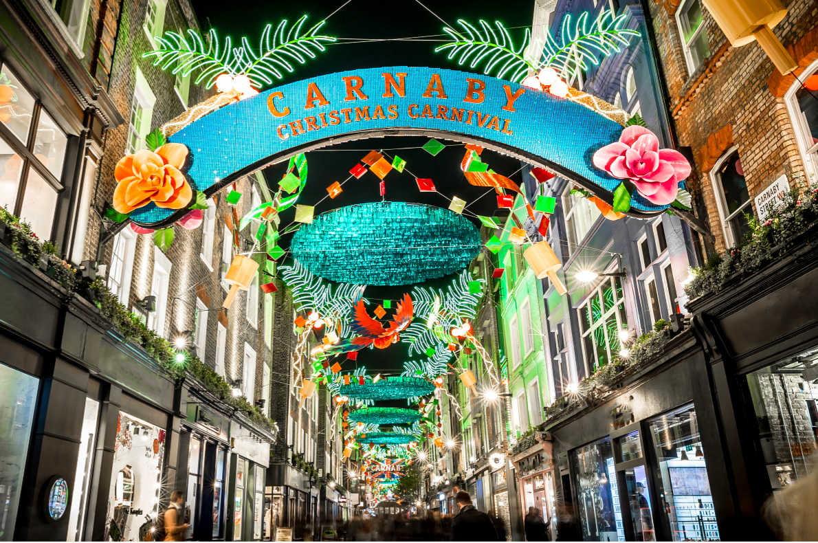 Carnaby Street Christmas Lights - Best Christmas Lights in Europe - London - Copyright  Alexey Fedorenko   - European Best Destinations