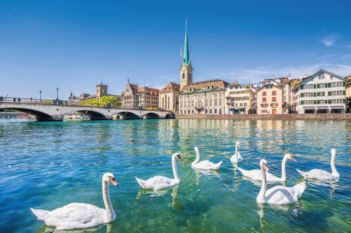 Quietest destinations in Europe  - Zurich Copyright Canadastock