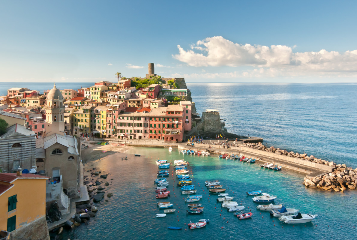 Vernazza Cinque Terre - Best places to get retired in Europe - Copyright grafalex - European Best Destinations