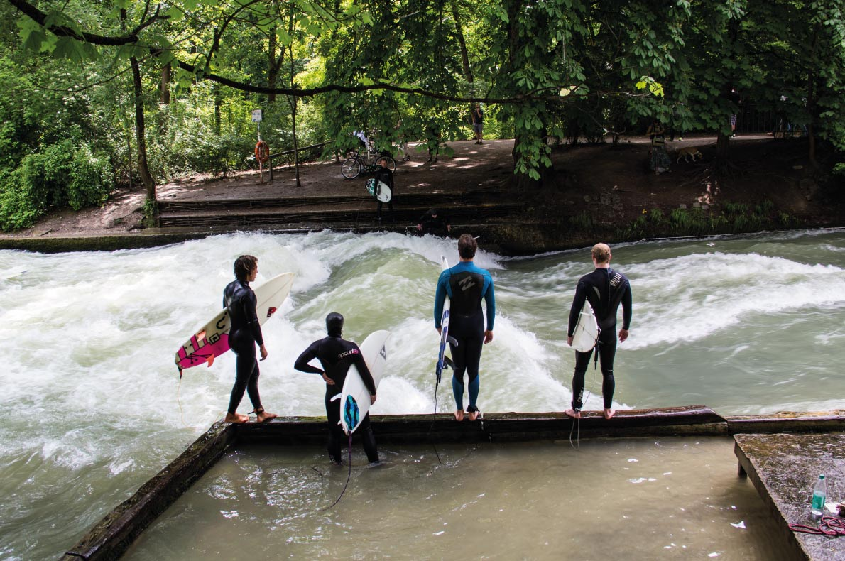 Munich Englischner Garten - Best surfing destinations in Europe - Copyright Sue Stokes  Shutterstock.com - European Best Destinations