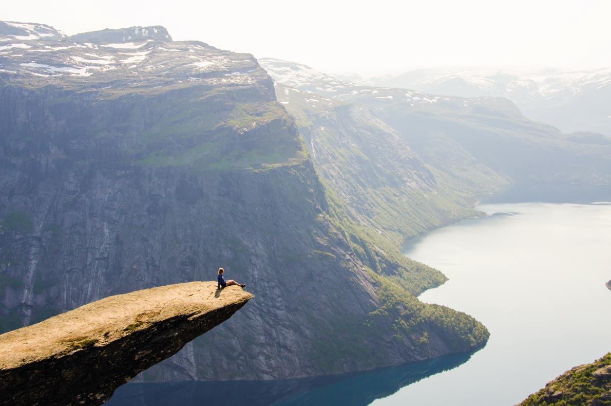 Trolltunga in Norway  - Best trekking destinations in Europe - Copyright Simon Dannhauer - European Best Destinations