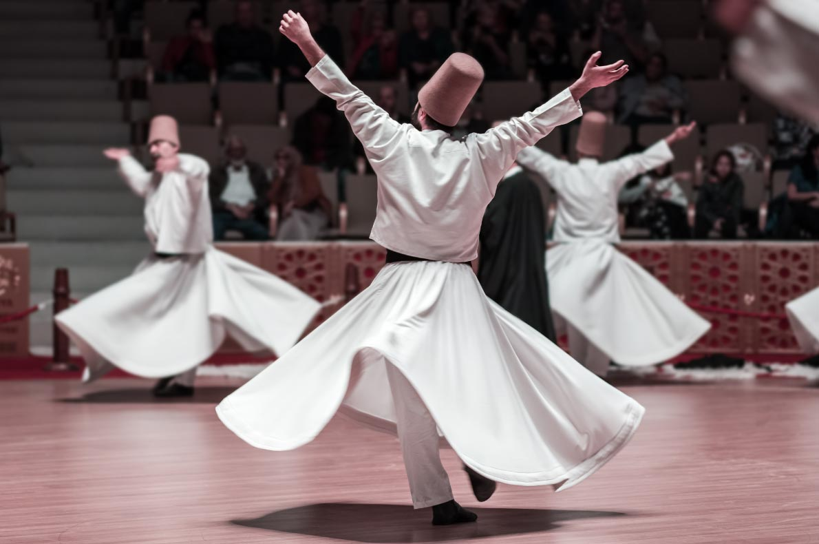 Best things to do in Turkey - Whiling Dervishes - copyright Mazur Travel - European Best Destinations