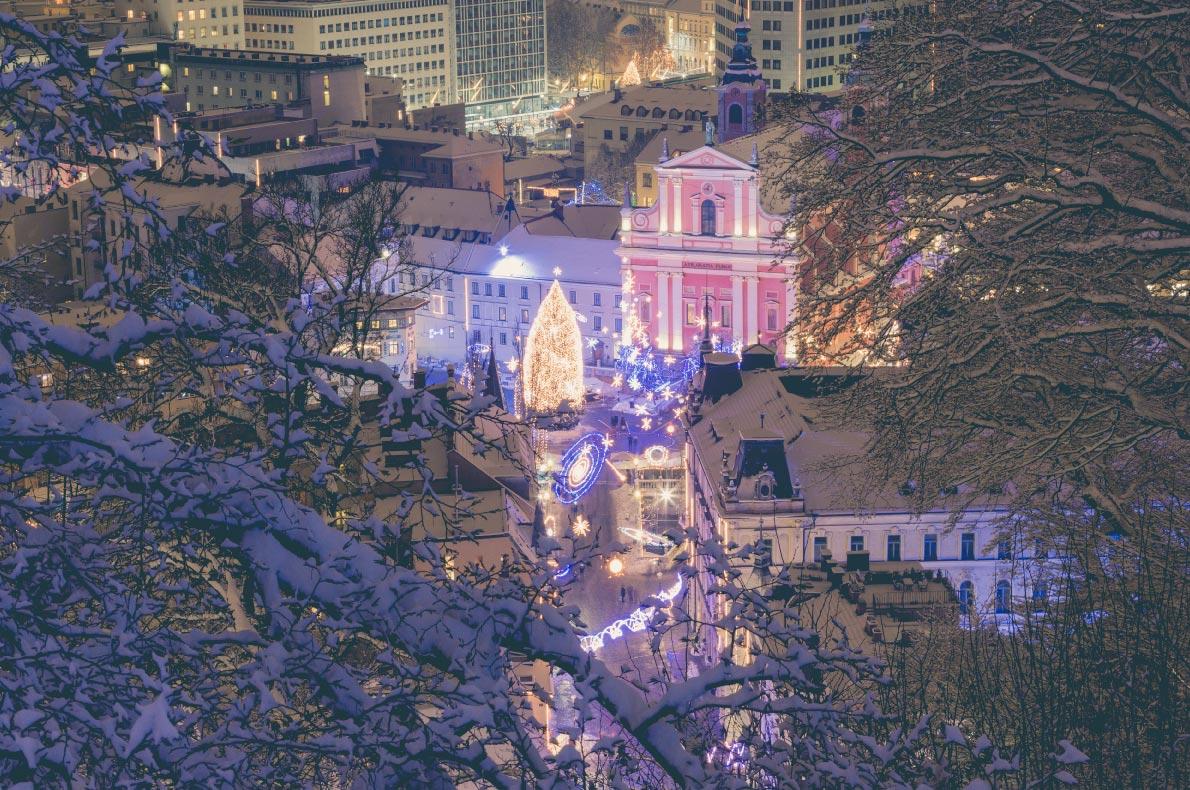 Covid 19 Cele mai sigure piețe de Crăciun din Europa - Piețele de Crăciun din Ljubljana - Copyright Donaturat - Cele mai bune destinații europene