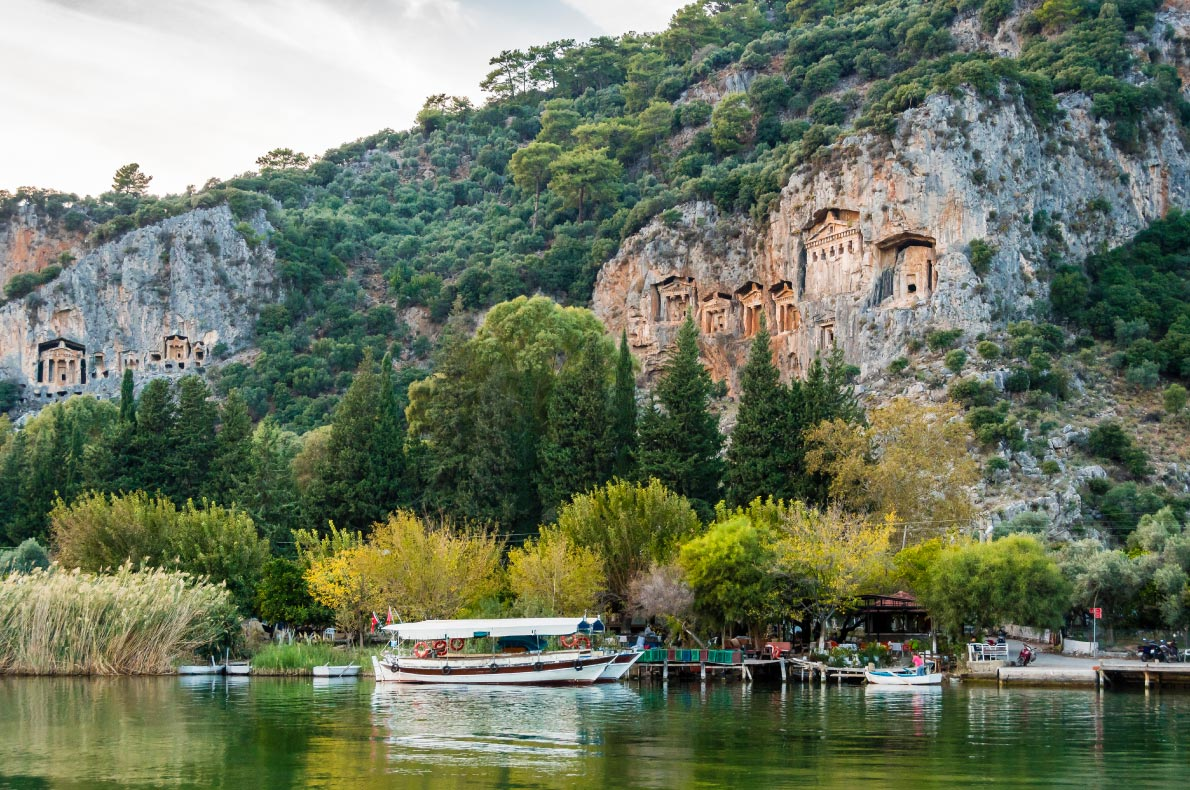 Best hidden gems in Turkey - Lycian Rock Tombs in Dalyan - Copyright Nejdet Duzen - European Best Destinations