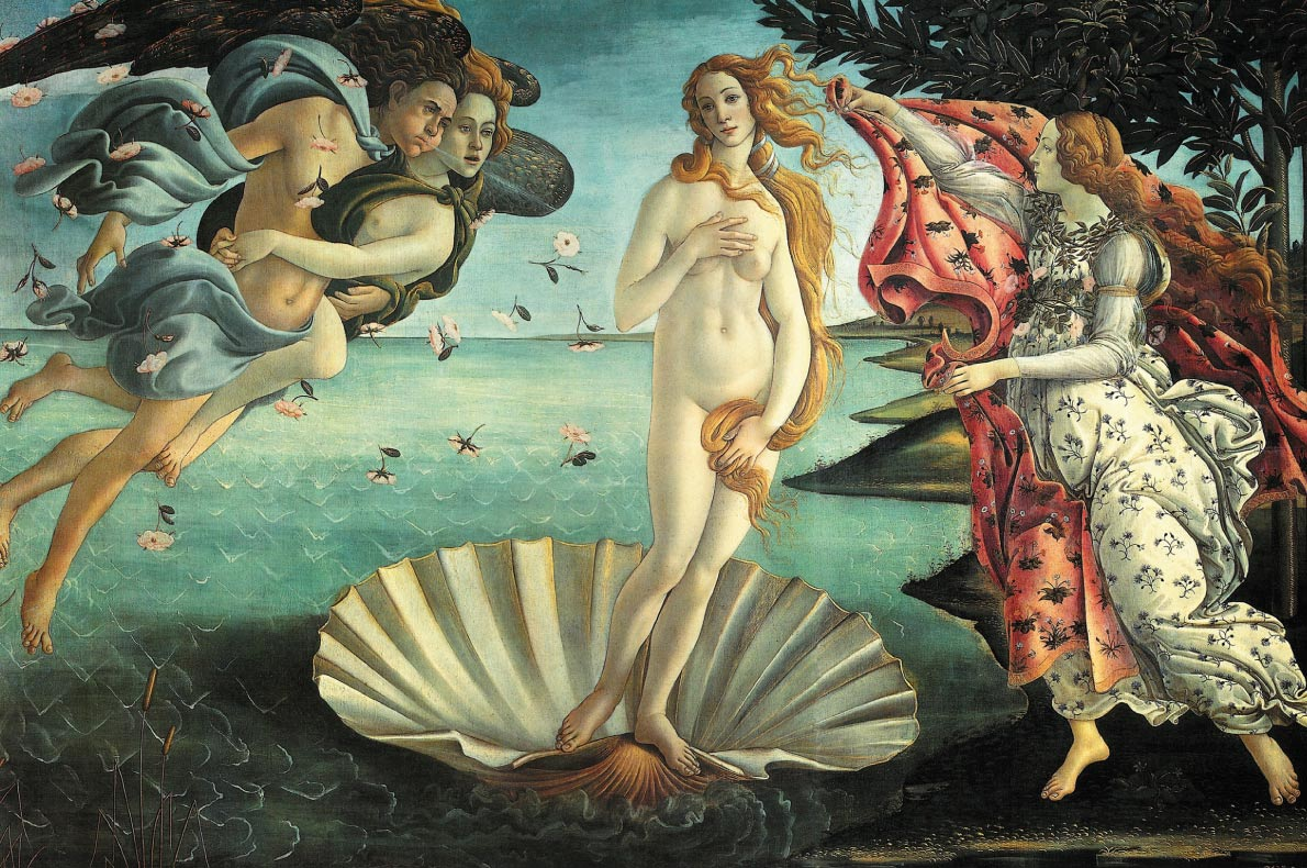 Unmissable paintings in Europe - La Nascita di Venere by Boticelli