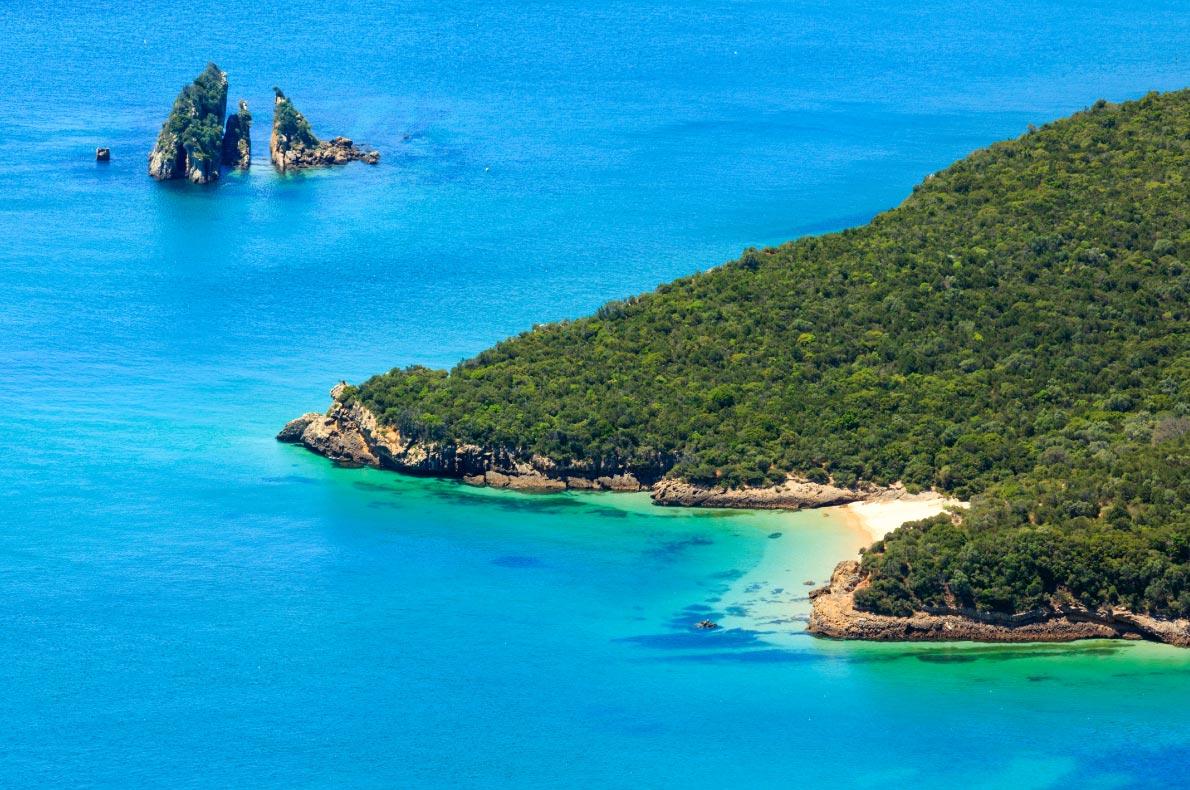 Best beaches in Portugal - Nature Park Arrabida in Setubal, Portugal. Copyright  Landscape Nature Photo - European Best Destinations