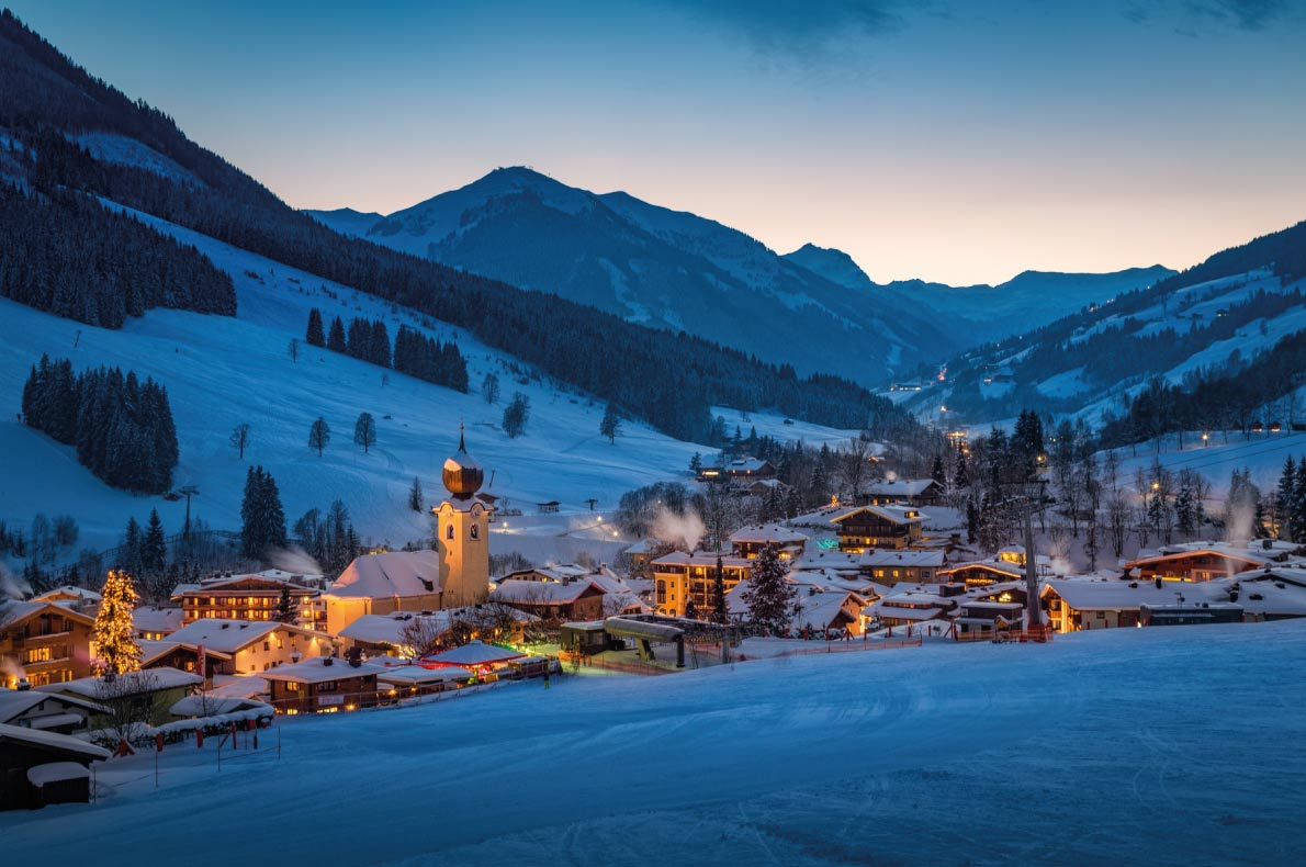 Most beautiful ski villages in Europe - Saalbach - Copyright mRGB