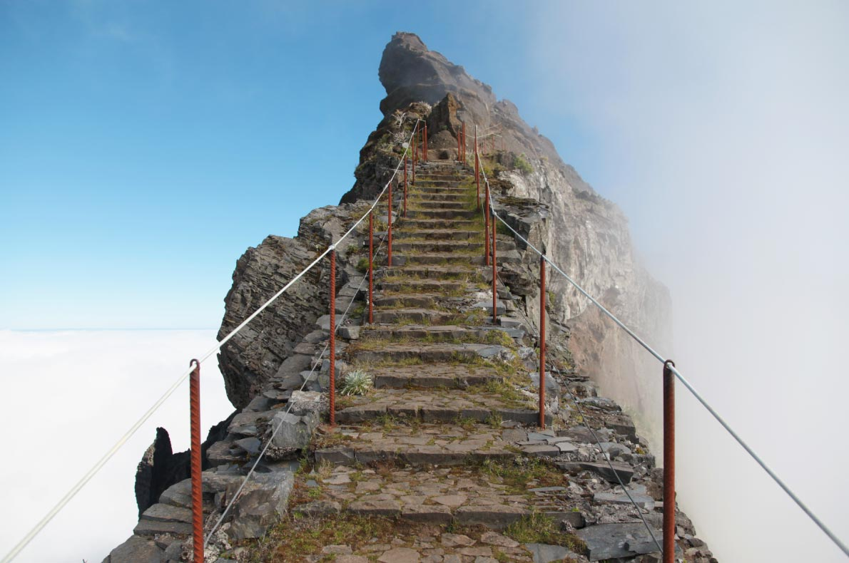 Best Instagrammable places in Madeira - Pico stairs to heaven - copyright  Yuriy Shmidt