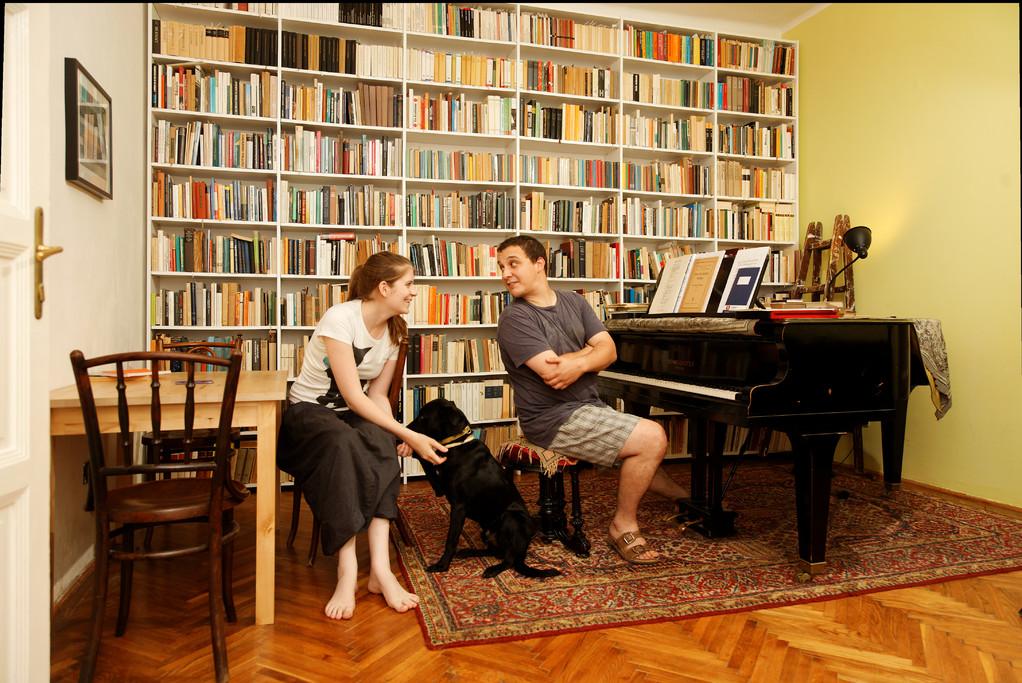 András Ránki und Anna Vidovszky, Musikhistoriker und Designerin, Budapest, seit 2001.