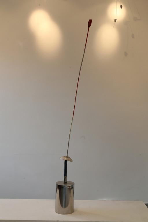 Viva,  131cm,  Chomstahl, Aluminium,  Lack,  4200 euro