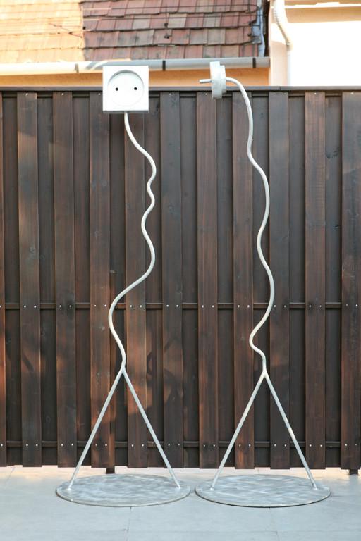 Adam-Eva, 192cm,  Aluminium gebogen-geschweisst,  99000 euro