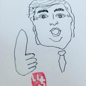 似顔絵トランプ大統領