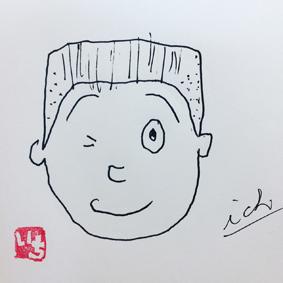 沖縄 筆文字 似てるっぽい似顔絵