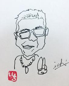 沖縄 手書き 筆文字 似顔絵
