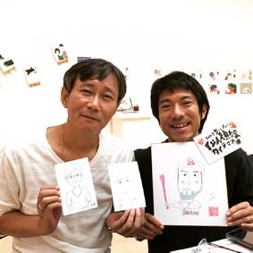 沖縄 似顔絵 描いてます