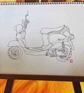 バイクイラスト画像