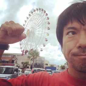 沖縄北谷観覧車 言葉創作 筆文字書いてます