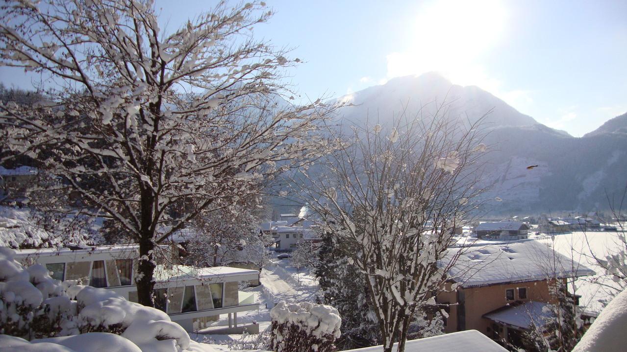 sonniger Wintertag (Blick vom Balkon)