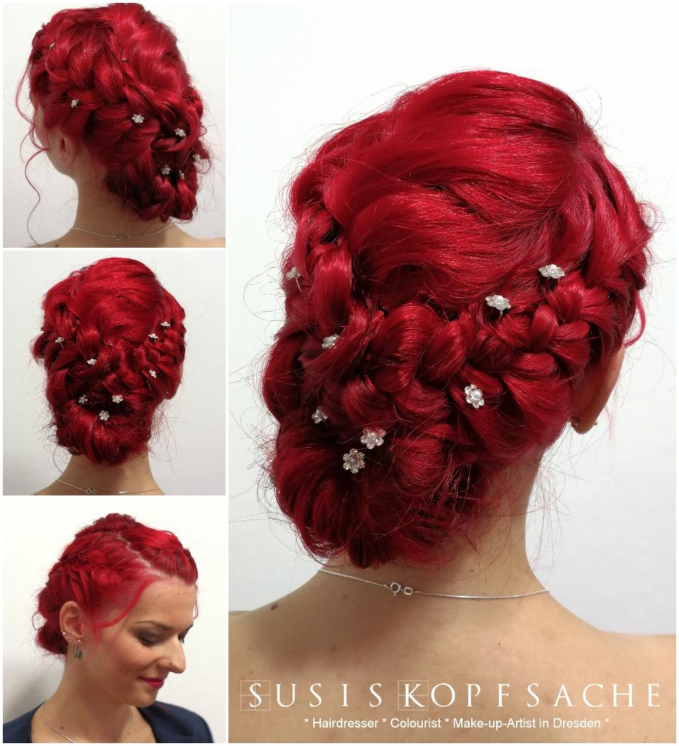 Hairstyling für einen Hochzeitsgast