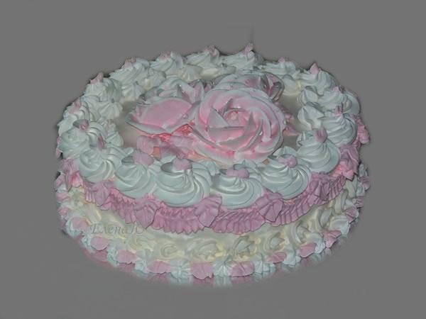 Пробный свадебный торт,  крем, 1,5 кг