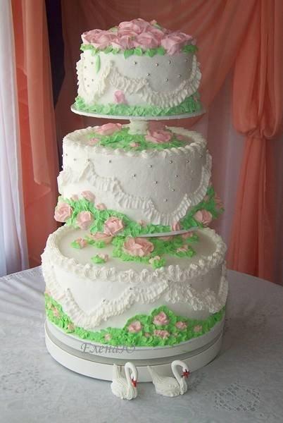 Трехъярусный торт, 10 кг