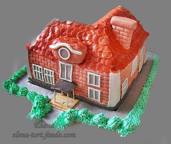 """Торт """"Дом, который построил я!"""". Шоколадный шифоновый бисквит,  шоколад брют, растопленный в сливках, взбитая сметана. 2,7 кг"""